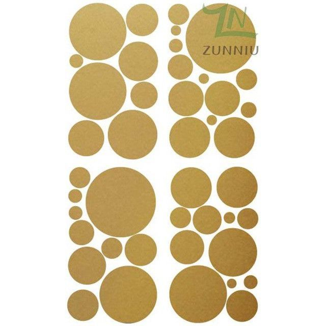 ZN C057 Set of 32 Polka Dots circle wall decals vinyl stickers ...