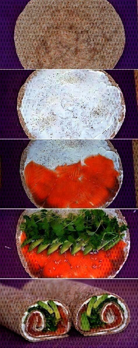 unglaublich leichte Wraps mit Räucherlachs, cremiger Avocado und schönen Gewürzen ... -  - Gen