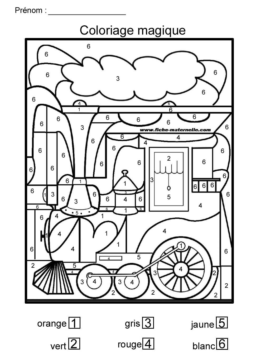 Coloriage magique pour moyenne section et grande section for Coloriage magique table x 6
