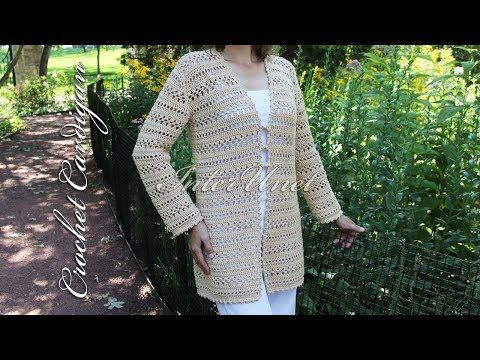 Long Cardigan With Sleeves Jacket Crochet Pattern Youtube