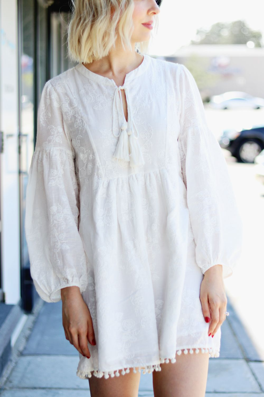 1fdc745da3b embroidered white cotton tunic dress    zara embroidered white cotton dress     summer tunic