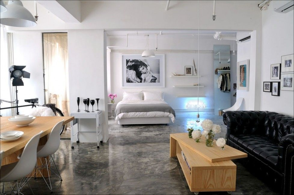 Studio Loft Apartments Open Plan Awesome Design Ideas General Interior