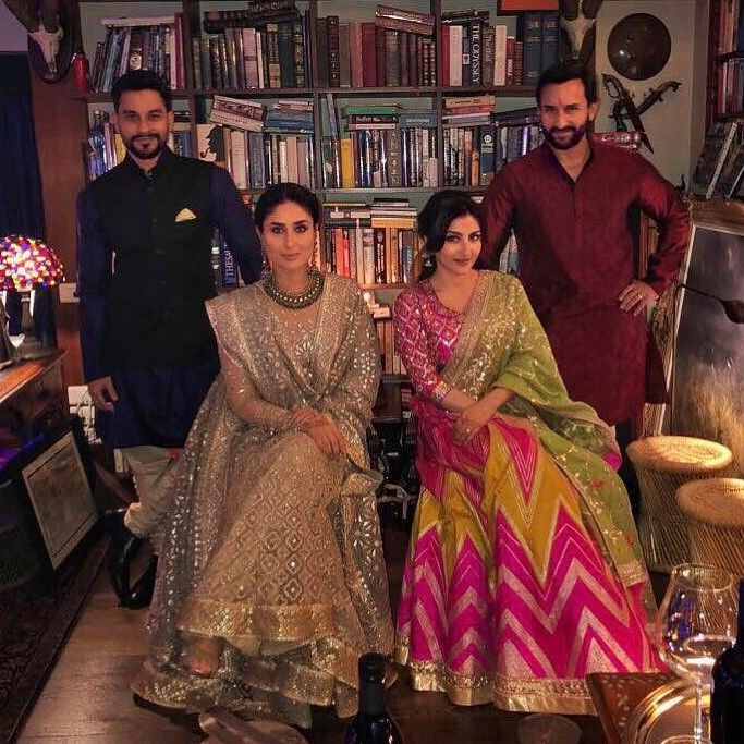 See In Pictures How Aishwarya Rai Bachchan Rani Mukerji Deepika Padukone Kareena Kapoor Khan And Oth Diwali Outfits Bollywood Fashion Soha Ali Khan Wedding