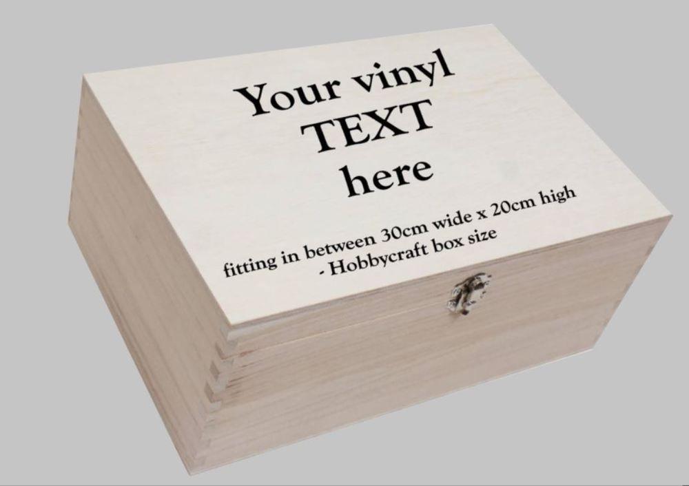 Personalised Box Sticker Fits Hobby Craft 30cm X 20cm Box Sticker
