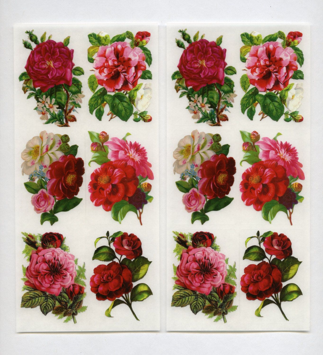 RED ROSES CRAFT CREATIONS DECOUPAGE FOR CARDS /& CRAFTS