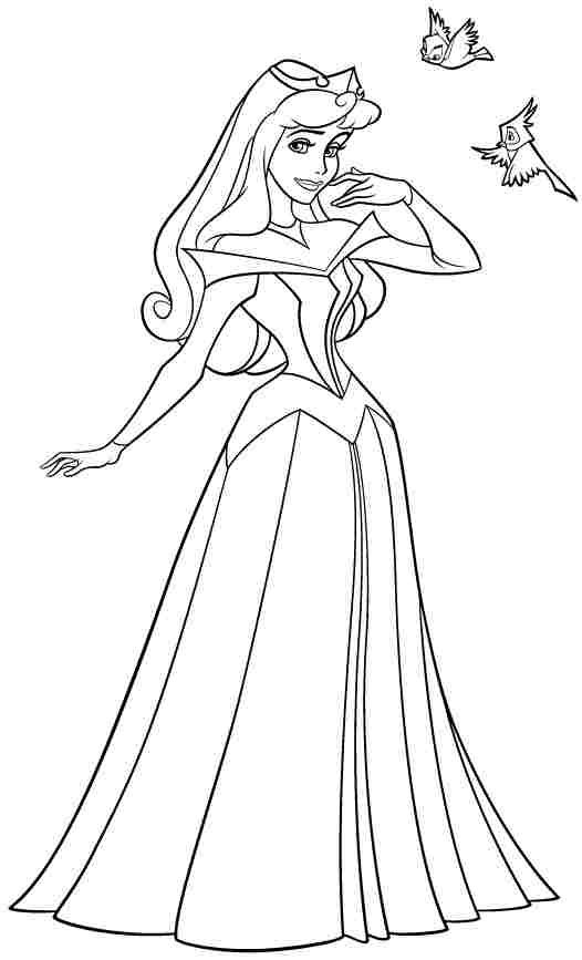 Disney Princess Sleeping Beauty Aurora Colouring Pages Free For  Kindergarten #55059.