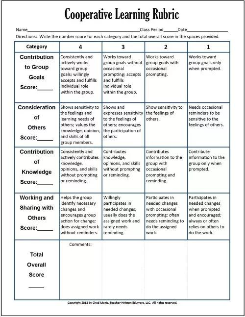 Cooperative Learning 7 Free Pdf Assessment Instruments
