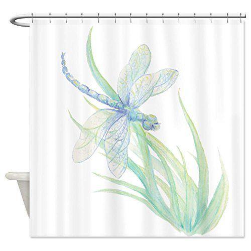 Elegant Dragonfly Bathroom Decor Light And Airy Shower Curtain