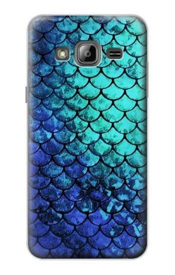 S3047 Green Mermaid Fish Scale Case For Samsung Galaxy J3