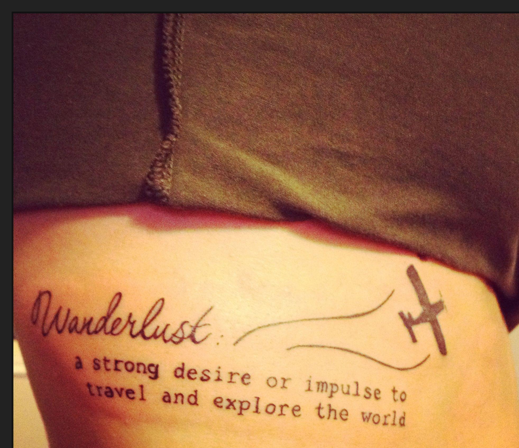 For The Love Of Travel Rib Tattoo Tattoo Pinterest