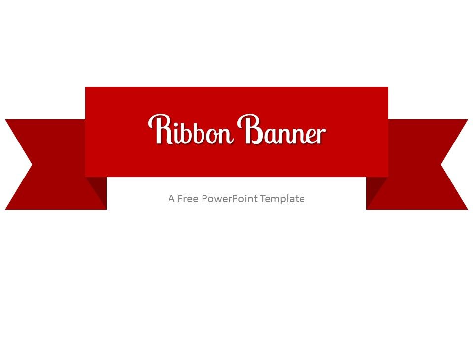 Red Ribbon Banner Powerpoint Template Clean Powerpoint Templates