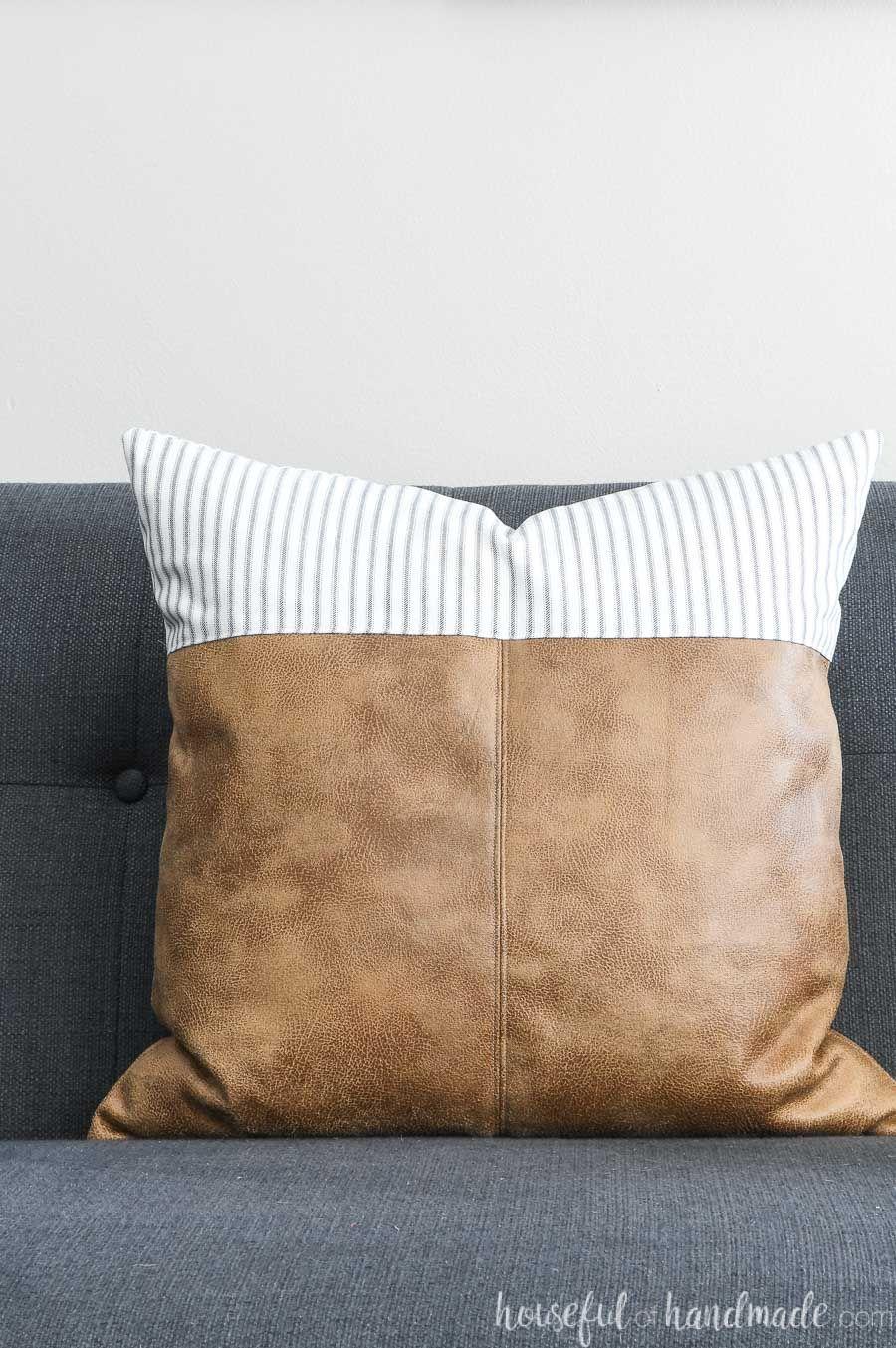 Decorative Leather Throw Pillows Leather Throw Pillows Throw