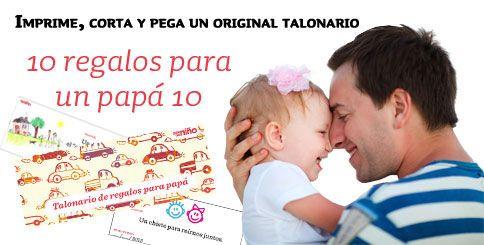 Talonario con vales regalo para el Día del Padre para imprimir. http://www.guiadelnino.com/en-familia/especial-dia-del-padre/talonario-de-vales-regalo-para-papa-para-imprimir