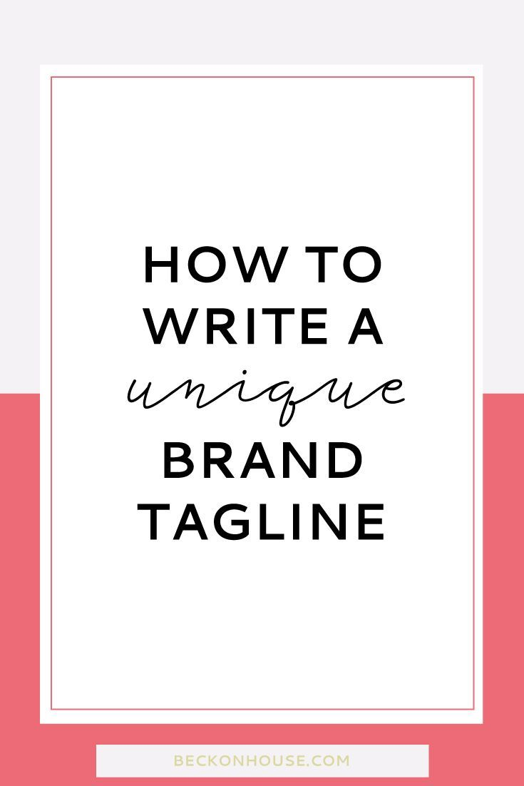 Today, we're discussing your unique brand tagline. It can also be referred to as your brand slogan, but for whatever reason I don't like the world slogan (it feels icky and super marketing-y to me) so I'll always be referring to it as your tagline.