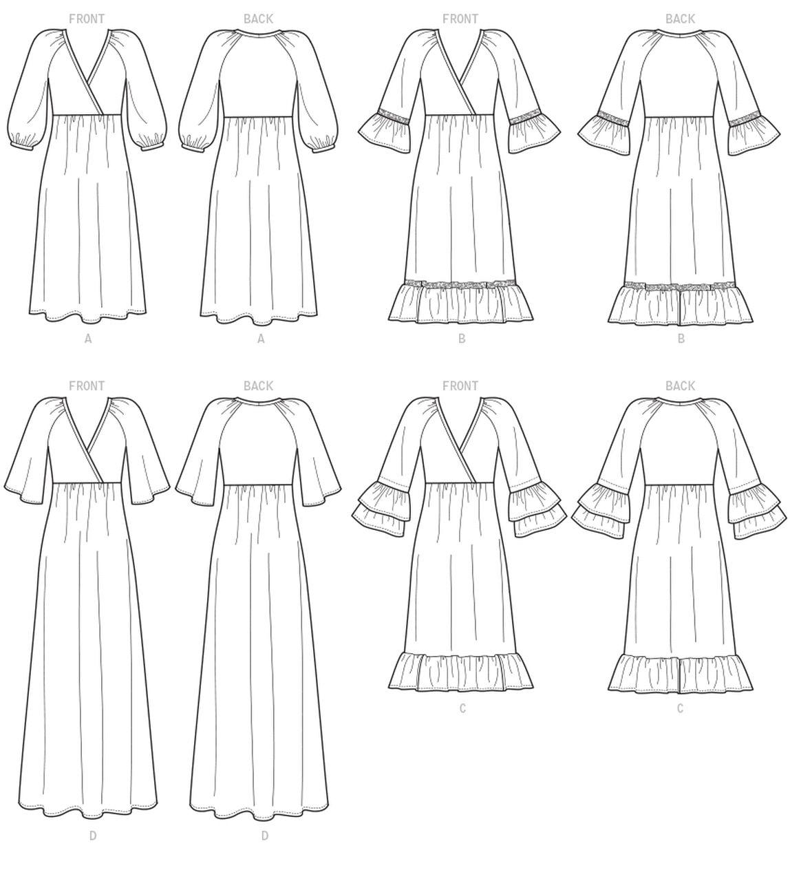 6-8-10-12-14 Mccalls patrón de costura Prendas para el torso 7977 A5