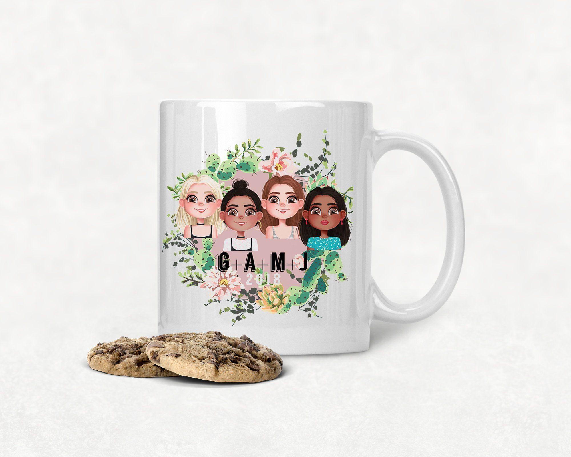 Set Of 4 Mugs Customize 4 Best Friends Graduation Gift