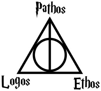Logos Pathos Ethos Harry Potter Decal Harry Potter Wall Decals Harry Potter Stickers