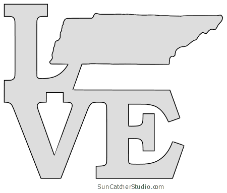 Tennessee Map Outline Printable State Shape Stencil Pattern Tennessee Map Map Outline Free Stencils