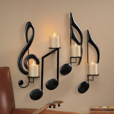 Set of 4 Musical Sconces   Montgomery Ward