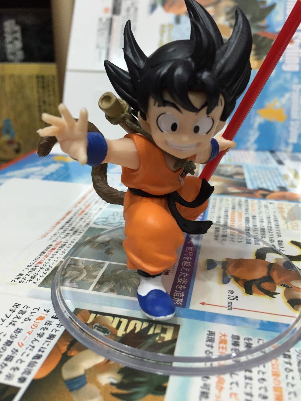 8CM Japanese anime figure dragon ball Naked Son Goku