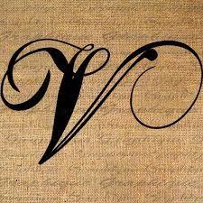 Resultado De Imagen Para Letra V En Cursiva Tatuaje Tattoo