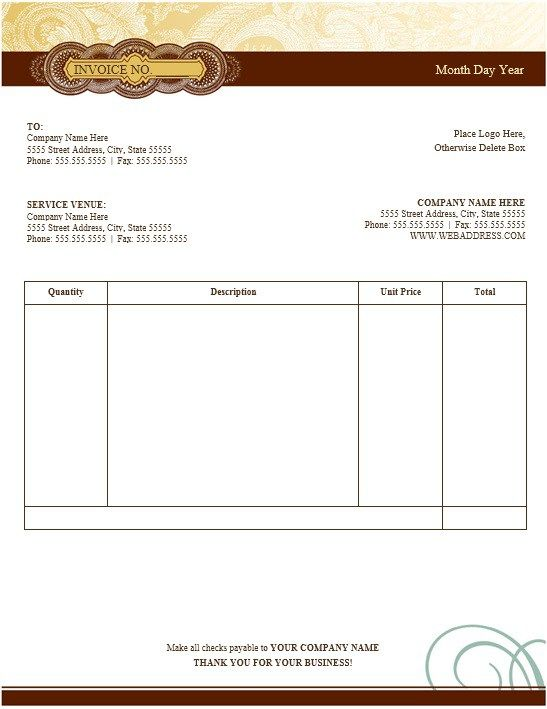 Painting Invoice Template  Stationary Templates