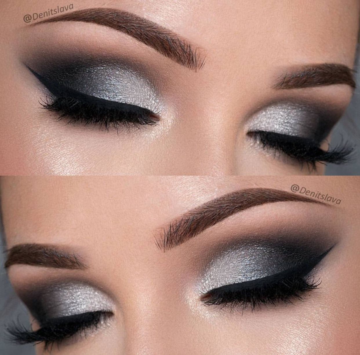 Black and silver eye makeup image by Angelita Rosales on