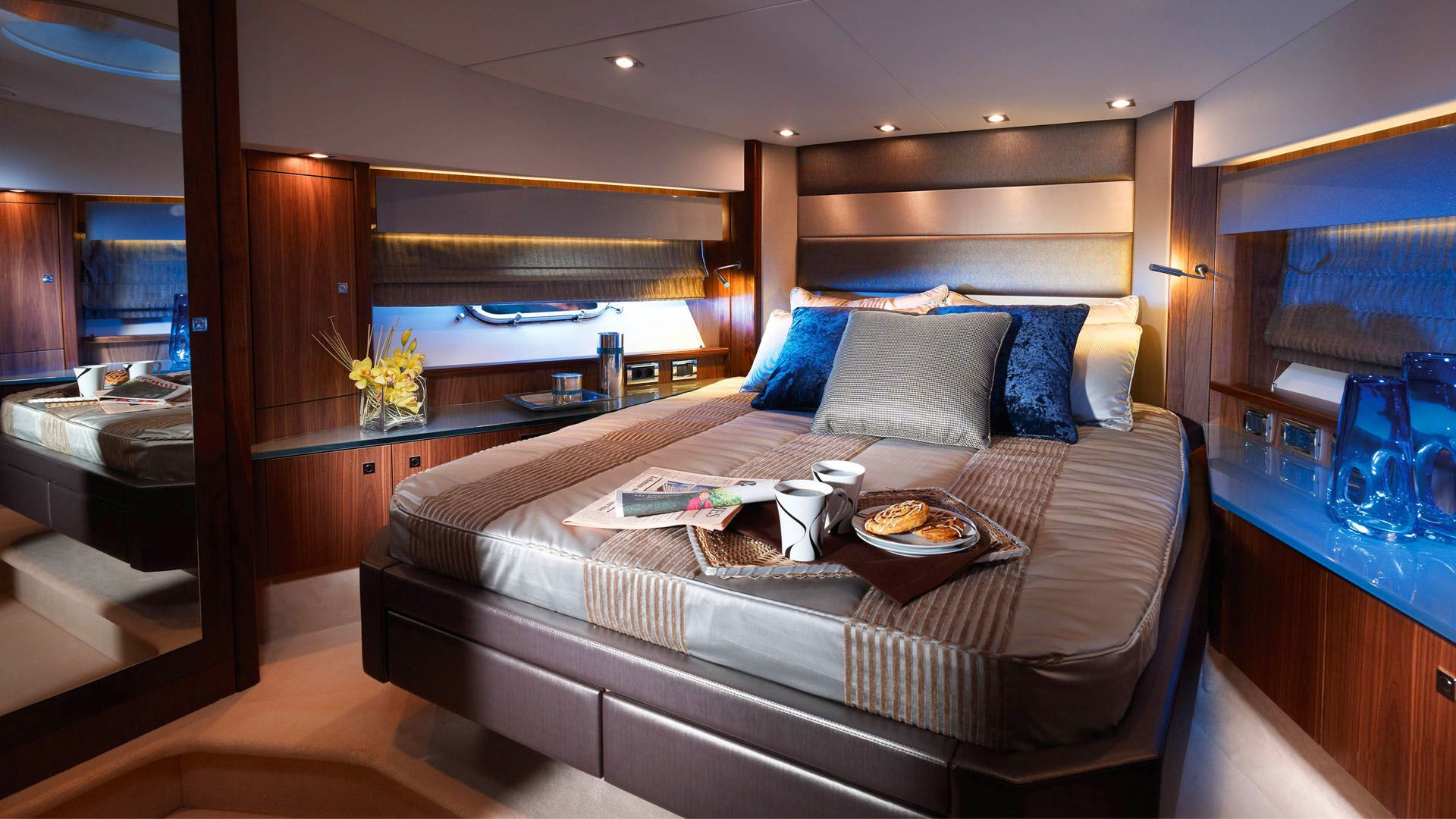 Bedroom Latest Hd Wallpaper With Images Luxury Yacht Interior