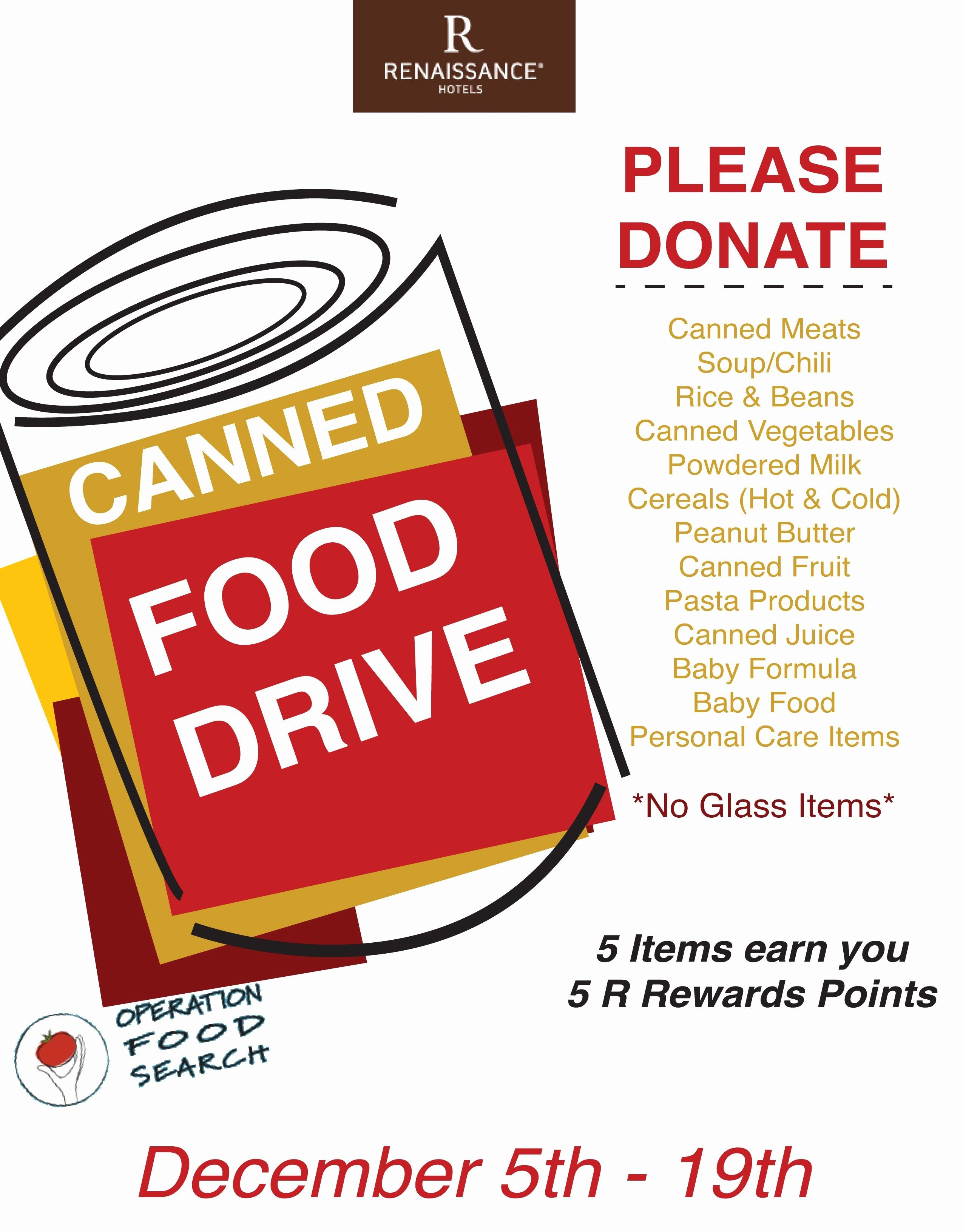 Heart And Soul Of Our Community Food Drive Flyer Food Drive Canned Food Drive