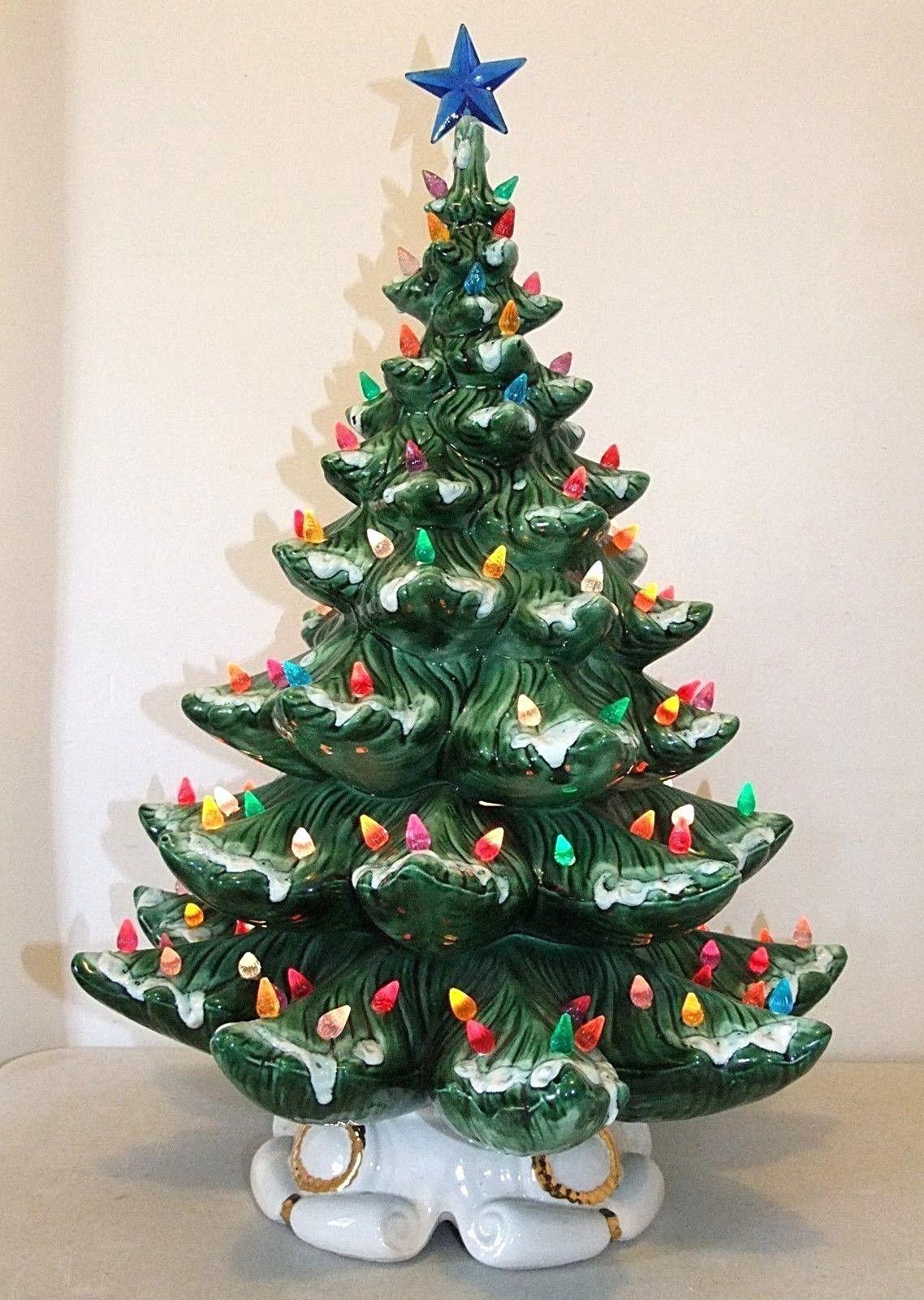 """Huge 24"""" Vintage Atlantic Mold Ceramic Christmas Tree ..."""