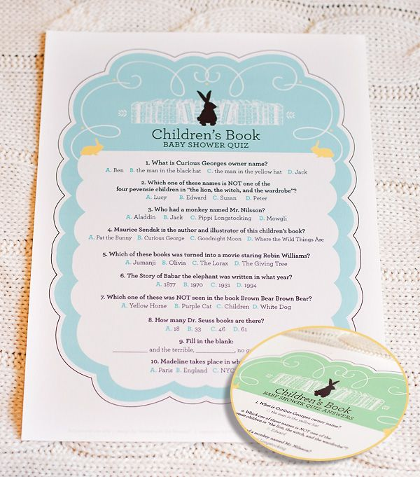 10 Creative Childrenu0027s Book Themed Baby Shower Ideas + Free Printable Quiz  U0026 Bookplates // Hostess With The Mostess®
