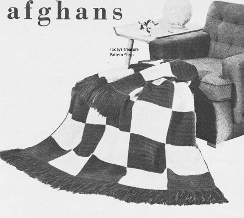 Easy Large Checkerboard Afghan Crochet Pattern Afghan Crochet