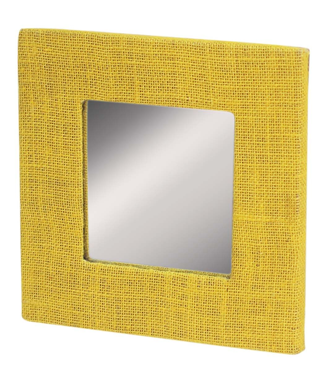 Wholesale Handmade Square-Shaped Mirror in Yellow Color – Framed in ...