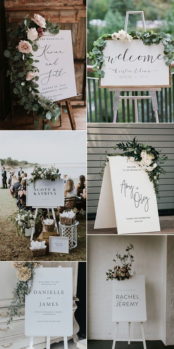 30 Stunning Wedding Welcome Sign Ideas to Steal