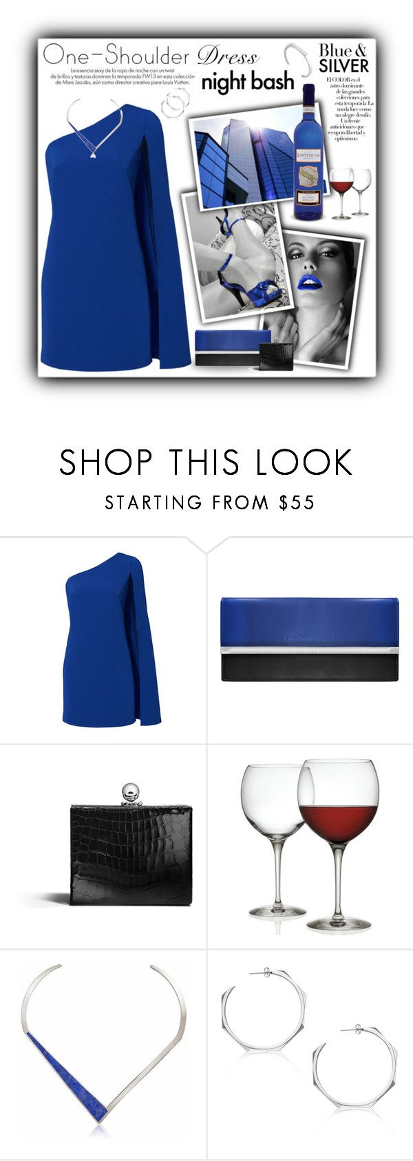 """""""One-Shoulder Dress"""" by gailermels ❤ liked on Polyvore featuring Jill by Jill Stuart, Asprey, Alessi, Louis Vuitton, Arco and Edge of Ember"""