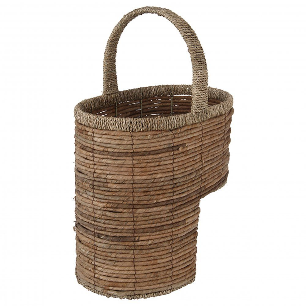 Wicker storage basket home storage baskets melbury rectangular wicker - Storage Ideas Natural Brown Banana Leaf Seagrass Stair Basket