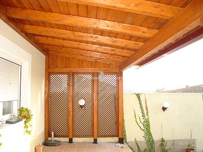 Celos as de madera para terraza y jard n madrid toledo - Pergolas el bosque ...
