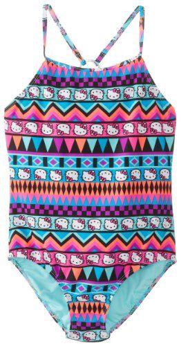 Hello Kitty Girls 7-16 1 Piece Swimsuit Tribal Aztec - List price: $40.00 Price: $13.69 Saving: $26.31 (66%)