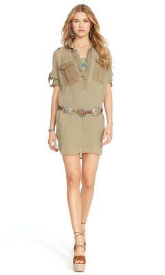 Sheer Mesh Shirtdress - Polo Ralph Lauren Short Dresses - RalphLauren.com