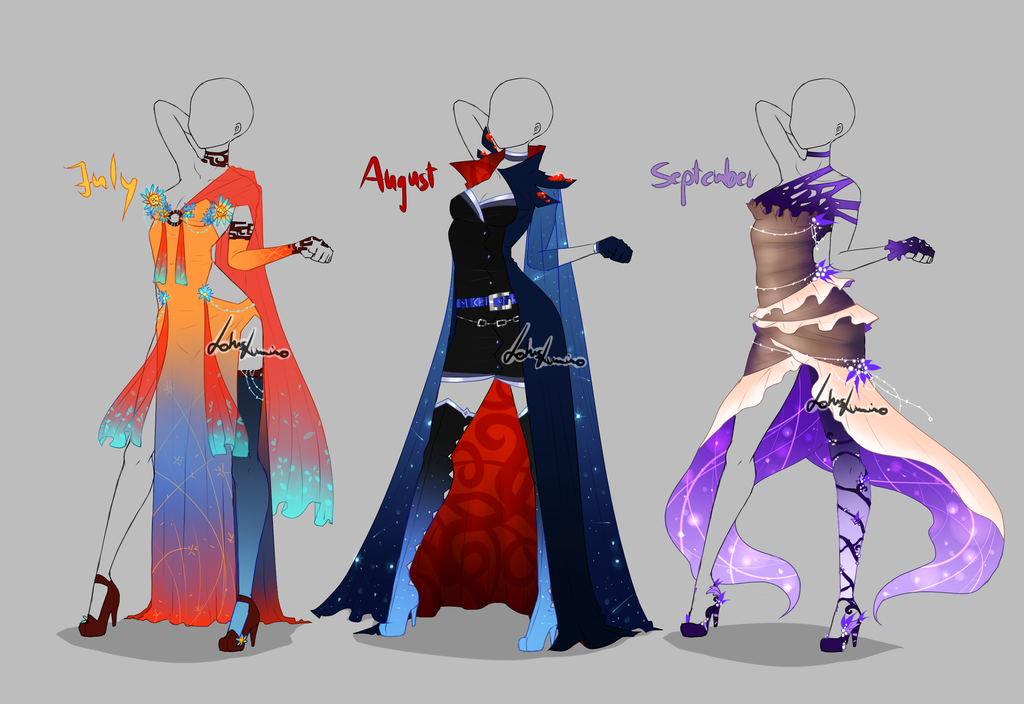 Outfit design - Months - 3 - open by LotusLumino on DeviantArt