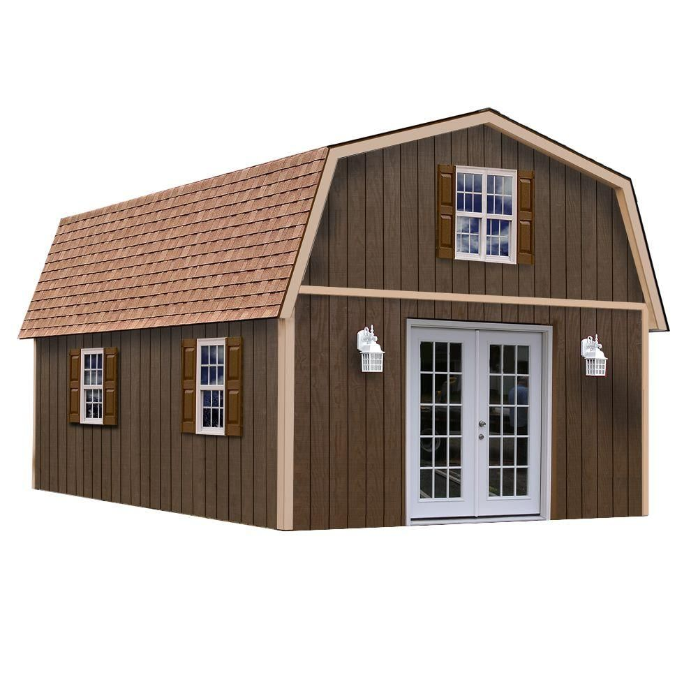 Best Barns Richmond 16 Ft X 32 Ft Wood Storage Building Richmond1632 The Home Depot Wood Storage Sheds Barns Sheds Shed Homes