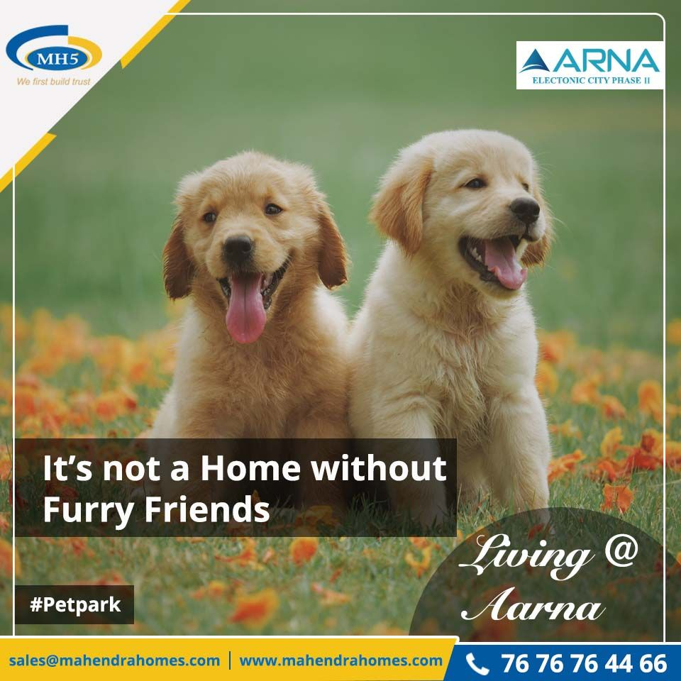 Mahendra Aarna presents petpark for all pet lovers.