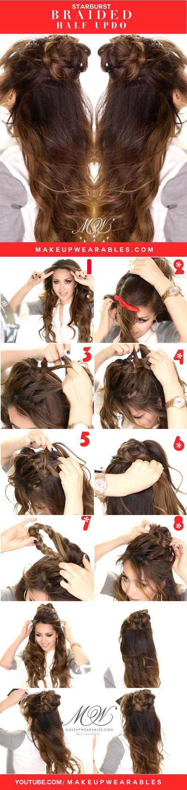 amazing half uphalf down hairstyles for long hair hair