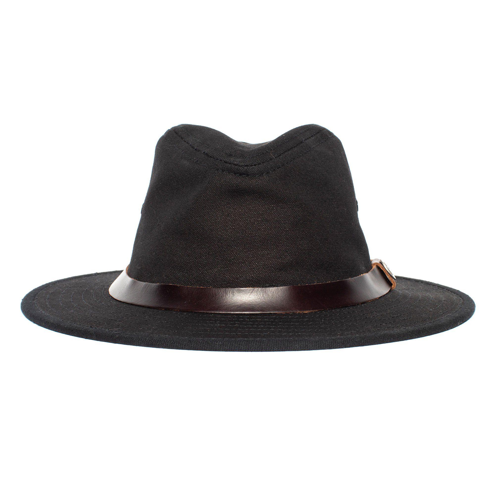 Goorin Urban Hiker Fedora Hat In Black Size Large Fedora Wide Brim Fedora Goorin