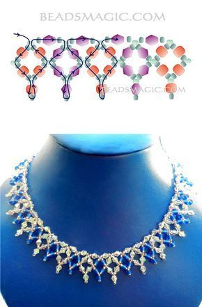 Free pattern for necklace Sky Light