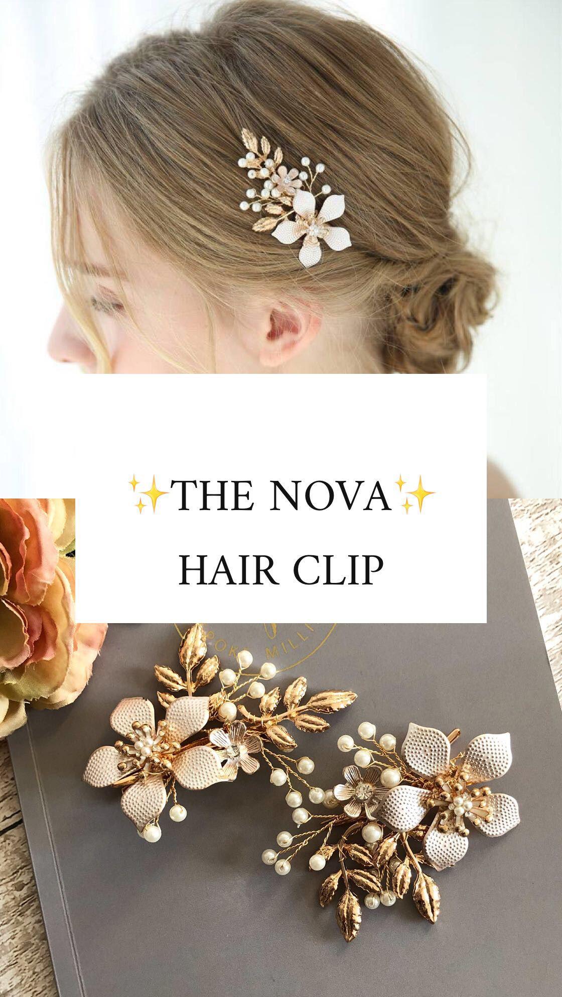 the nova hair clip/blush hair clip/the bobby pin