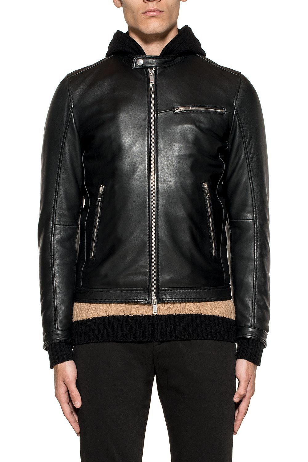 New Biker leather jacket Dondup Pictures Cheap Price Free Shipping Many Kinds Of Cheap Sale Ebay Latest Online qQ3EQ
