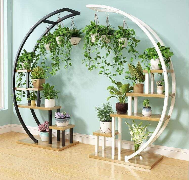 Moon Shape Plants Rack In 2020 House Plants Decor Garden Rack Plant Decor #standing #shelves #for #living #room