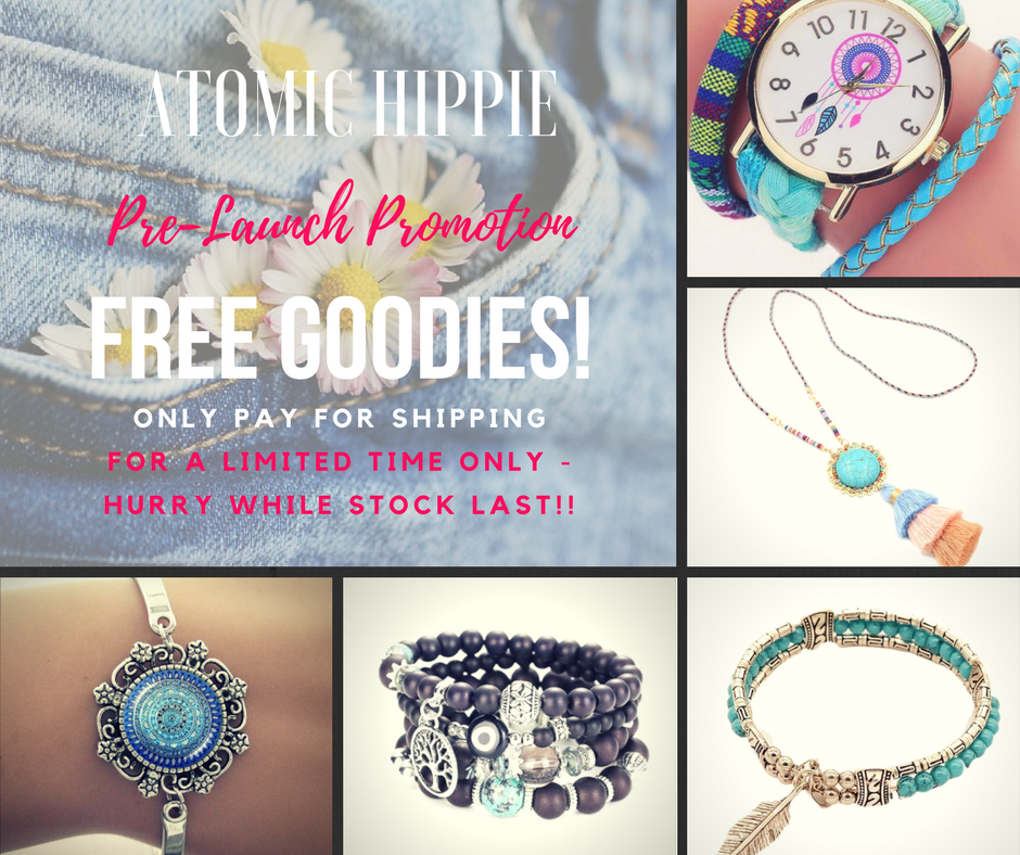 Pre-Launch Promotion - FREE Bracelets, Watches and Necklaces