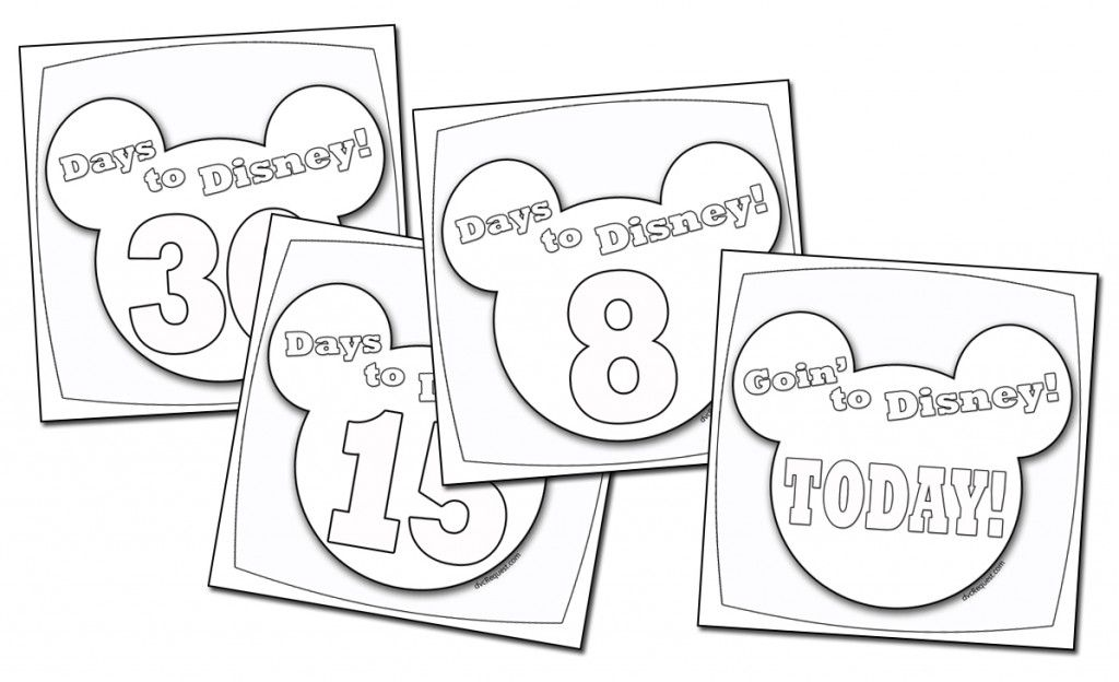 Disney Countdown Coloring Pages For our countdown to